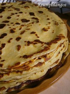 Krumplilángos Chapati, Hungarian Recipes, Main Meals, Side Dishes, The Best, Bacon, Good Food, Food And Drink, Healthy Eating