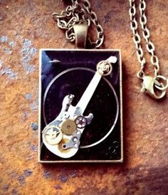 The Steampunk Rocker Pendant by ColdGarageCreations on Etsy
