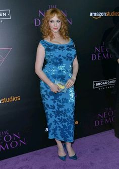 "iadorechristinahendricks: "" Christina Hendricks at the premiere of 'The neon demon' in Hollywood, june 2016. """