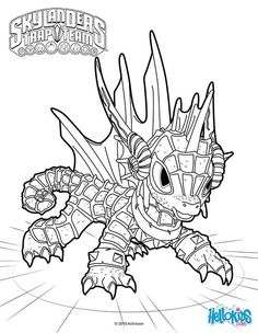 Coloring For Kids Adult Pages Skylanders 4 Video Games Crayon Art Drawings Colouring