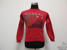 Vtg 90s Logo 7 Chicago Bulls Crewneck Sweatshirt sz Youth M Basketball Jordan #Logo7 #ChicagoBulls #tcpkickz