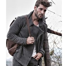 Joseph Cannats winter look Joseph Cannata, Winter Looks, Good Looking Men, Perfect Man, Sexy Men, Sexy Guys, Eye Candy, How To Look Better, Men Sweater