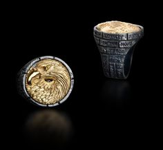 "GALATEA: MEN'S ""BRICKS OF LIFE"" RING FROM THE CAPITAN COLLECTION"