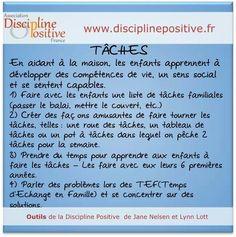 Discipline positive : les tâches familiales Enfants - Education Bienveillante Montessori Maternage Astuce Evolution Parentalité positive non violente
