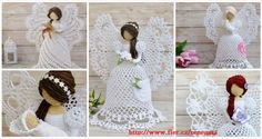 Crochet angels are a popular adornment. This angel pattern in crochet is also a perfect ornament for Christmas. Angel patterns can bring a touch of life and faith to … Read more. Crochet Christmas Ornaments, Holiday Crochet, Crochet Snowflakes, Crochet Home, Crochet Crafts, Crochet Projects, Angel Ornaments, Christmas Angels, Christmas Christmas