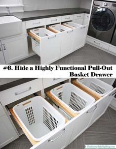 Hide a Highly Functional Full-out Basket Drawer.