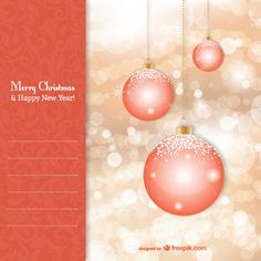 Template with Christmas balls