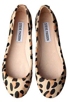 Steve Madden leopard print flats