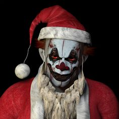 Writing Prompt: Describe something that terrifies you so much, it would give you nightmares. The scary Santa Clown — so you better watch out cause he is coming to town. FOR YOU! | 15 Types Of Stock Photo Clowns That Will Haunt Your Dreams