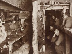 A refuge in the cellars of Ypres