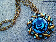 Gears of War Blue Crimson Omen Necklace by SuperfastSpider on Etsy, $25.00
