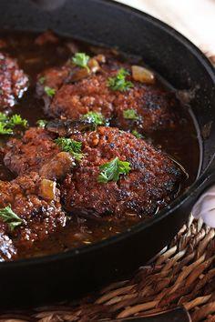 The Very Best Salisbury Steak Recipe   TheSuburbanSoapbox.com