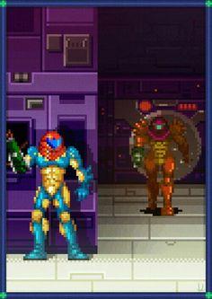 Samus vs Varia Suit - Metroid Fusion