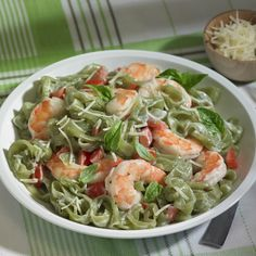 Skinny Shrimp Fettuccine Alfredo made with low calorie, 0 net carb ...
