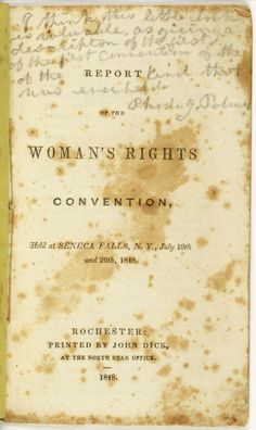 Seneca Falls Convention took place in 1848 and was the 1st convention to discuss woman's rights. It was organized by Lucretia Mott and Elizabeth Cady Stanton.