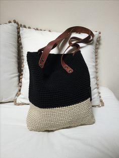 Crochet cotton medium tote Handmade by MicheMiche