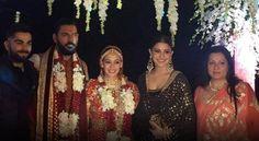 anushka sharma and virat kohli at yuvraj wedding