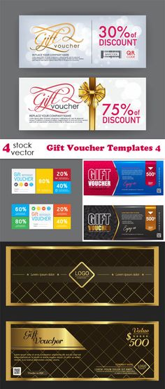 Vectors - Gift Voucher Templates 4 Ticket Design, Gift Vouchers, Grafik Design, Logos, Night Life, Vectors, Banner, Clip Art, Templates
