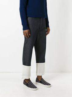 Loewe широкие джинсы с контрастной полоской