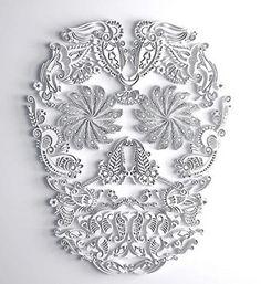 Dia De Los Muertos Paper Skull