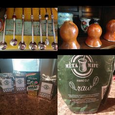 Brazilian Gourds, bombillas, and only the highest quality Brazilian Yerba Mate (Chimarrão) - Barão de Cotegipe and Meta Mate. ➡www.yerbamateplace.com⬅ is the place to get this awesome stuff!