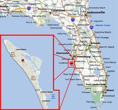 florida map with anna maria island