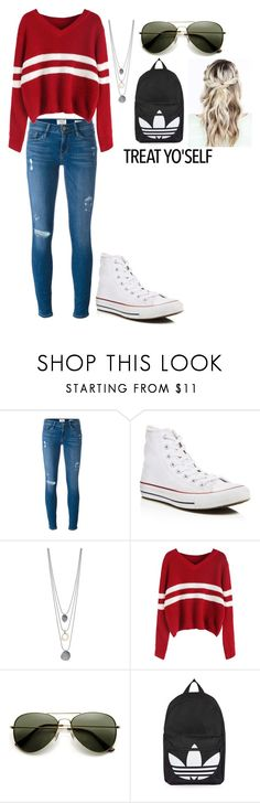 """""""hello :)"""" by jamwich ❤ liked on Polyvore featuring Frame, Converse and Topshop"""