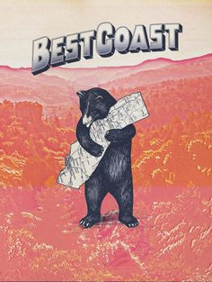 The Best coast band's interesting, mysterious cover image for most of their singles
