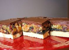 Czech Recipes, Russian Recipes, Oreo Cupcakes, Cake Bars, Sweet Tooth, Cheesecake, Food And Drink, Dessert Recipes, Sweets