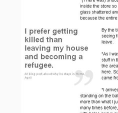Syria blogger: 'I live or die here'