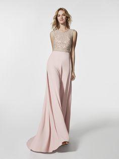 Foto vestido de fiesta rosa pálido (62043)