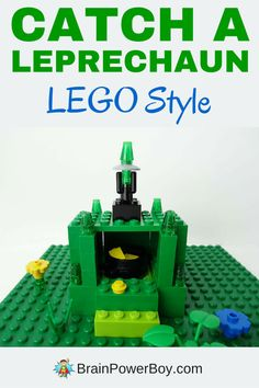 Do you want to catch a leprechaun? LEGO traps work the best! Get all the details on building a LEGO leprechaun trap plus tips for catching a leprechaun by clicking on the image. St Patricks Day Crafts For Kids, St Patrick's Day Crafts, Crafts For Boys, Fun Crafts, Lego For Kids, Stem For Kids, Diy For Kids, Lego Activities, Activities For Boys