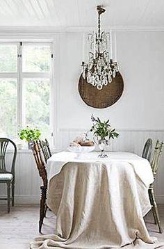 I love the tablecloth