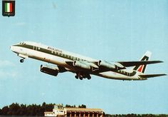 Douglas Dc 8, Douglas Aircraft, Cargo Airlines, Airplanes, Postcards, Aviation, Wheels, Vintage, Planes