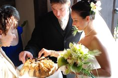 Polish Wedding Welcoming the new Mr. & Mrs with bread and salt and a shot of vodka. Bread so their household will never lack of it, salt to spice up their life together and vodka for toast. Welcoming usually done by brides parents