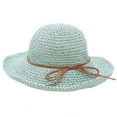 Urban CoCo Women's Wide Brim Caps Foldable Summer Beach Sun Straw Hats ($12) ❤ liked on Polyvore featuring accessories, hats, sun hat, beach cap, foldable sun hat, beach hat and foldable straw hat