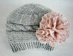 Baby Girl Hats  Baby Girl Knit Hat  Knit by PrettyBagsByMia, $17.90