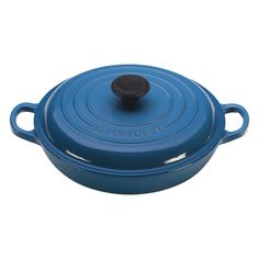 Le Creuset Signature Enameled Cast-Iron 1-1/2-Quart Round Braiser, Marseille
