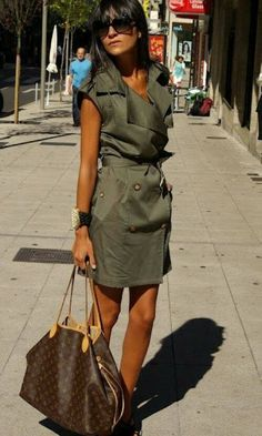 awesome military style dress and Louis Vuitton Neverfull bag Take A Look at louis vuitton handbags on sale or louis vuitton handbag prices then CLICK Visit link above for more options Louis Vuitton Neverfull Mm, Louis Vuitton Handbags, Lv Handbags, Neverfull Gm, Spring Outfits, Trendy Outfits, Cute Outfits, Fashion Now, Fashion Outfits