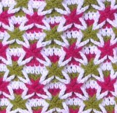 Colored Vanilla Star or Polish Star Stitch
