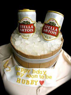 Stella Artois beer cake                                                                                                                                                                                 More
