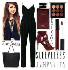 """""""jumpsuit: Zoe inspired"""" by j-n-a ❤ liked on Polyvore featuring Zimmermann, Anastasia Beverly Hills, MAC Cosmetics, Dolce&Gabbana and sleevelessjumpsuits"""