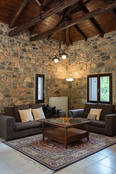Entire home/flat in Kardaras, Mainalo, Greece. Villa Mainalis is a stylish stone house in an idyllic setting at the slopes of Mainalon Mountain, just away from Athens and less than fro. Toscana, Plans, Athens, Floors, Villa, Lounge, How To Plan, Interior Design, Table