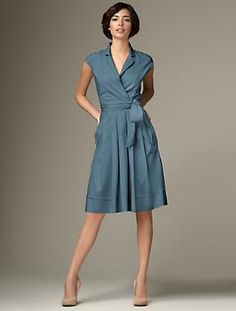 talbots dress in the perfect color blue