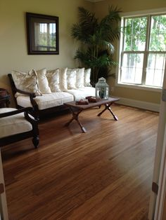 Beautiful hard wood flooring make any home look clean and inviting.