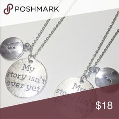 💝Donation made with purchase💝 The Semi Colon symbol.... Show the world that your story is far from over!!! Proudly wear this necklace for yourself and to encourage others! Handcrafted in the USA 😊                                                                             $1 of the purchase price donated to NAMI (National Alliance on Mental Illness) October Love Jewelry Necklaces
