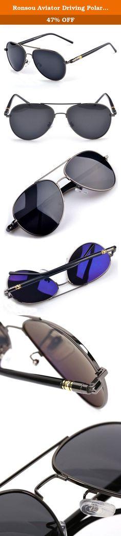 091df64c127 Ronsou Aviator Driving Polarized Sunglasses Eyewear Glasses for Men and  Women gray frame gray lens