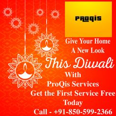 #Diwali #Festive_Season #New_Look #Home_Cleaning #First_Service_Free #Grab_The_Offer This Diwali Give your home a new look with our cleaning services. no need to hassle with the moving, cleaning and maintaining the home. give us a call and get your first service free this Diwali. Call Us today on +91-850-599-2366 And Don't Forget to follow us on Social Media  Twitter: https://twitter.com/ProQis_services LinkedIn: https://www.linkedin.com/in/proqis-ser-b10aaa148/ Pinterest…