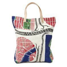 Väska Tote Manhattan Lin #textiles #patterns - Josef Frank Tote