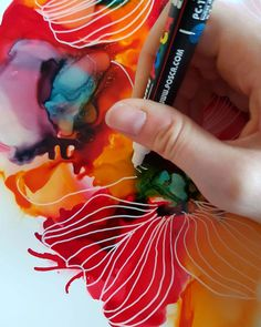 Alcohol Ink Art, Colourful Art - JulieMarieDesign